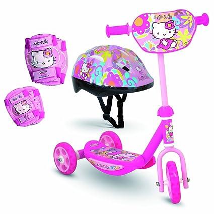 Darpèje Hello Kitty - Patinete 3 Ruedas con Casco y ...