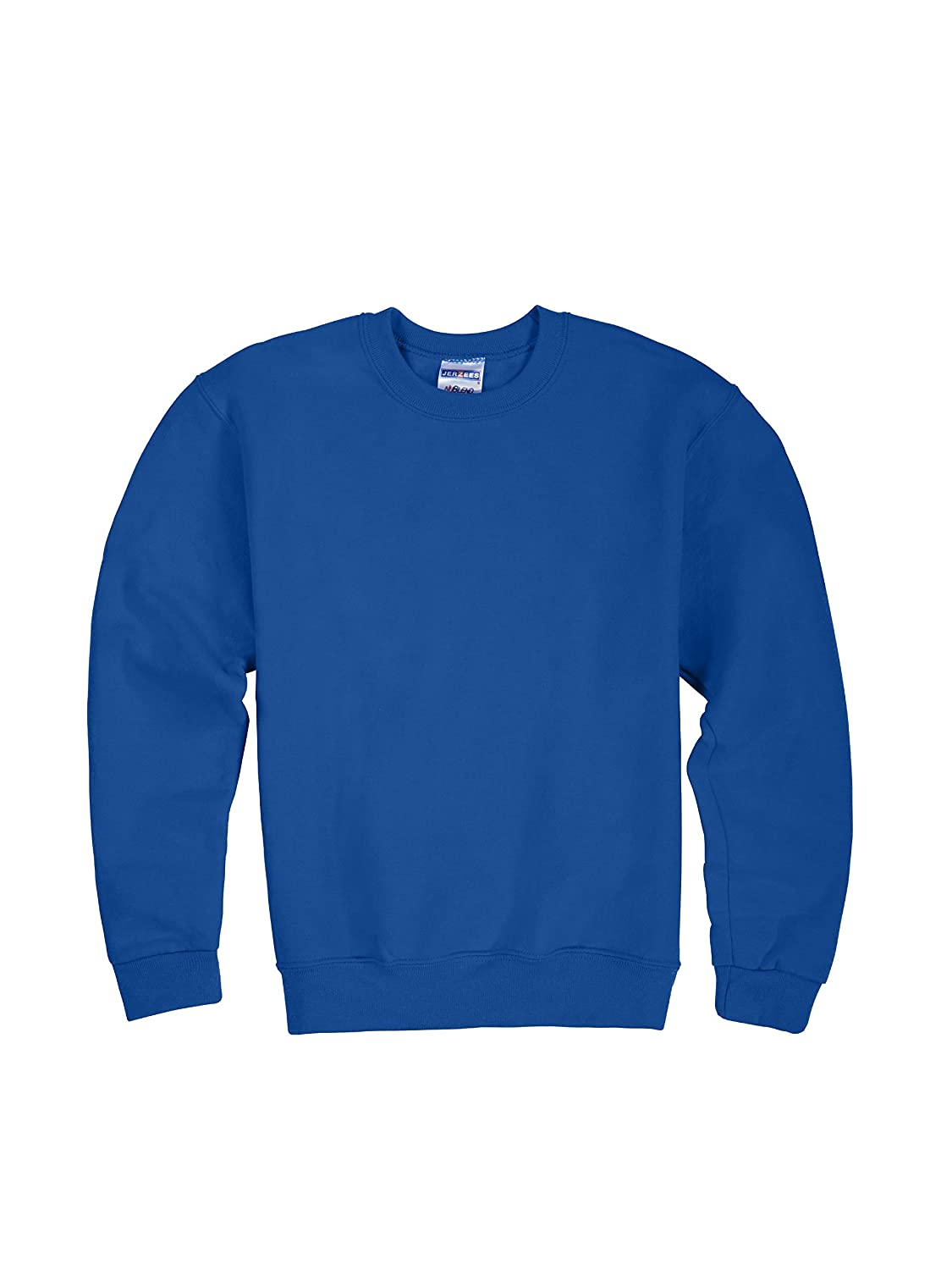 Jerzees Youth Fleece Crew Sweatshirt Royal Large