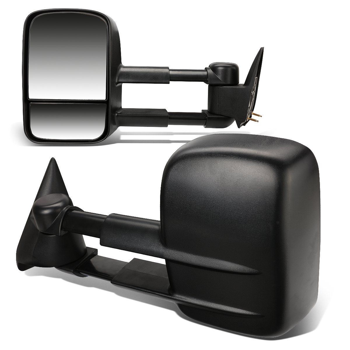 DNA MOTORING TWM-001-T222-BK Pair Of Towing Side Mirrors, Driver and Passenger Sides by DNA MOTORING