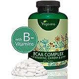 BCAA Vegavero® | LA DOSIS MÁS ALTA: 5000 mg | Aminoácidos + Vitaminas B + Cromo + Zinc | SIN ADITIVOS | Energía + Rendimiento en el Gym + Recuperación | 270 Comprimidos | Producto Alemán | Vegano
