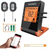 SUNAVO Bluetooth Meat Thermometer for Grilling MT-27, APP Controlled Remote BBQ Turkey Smoker Thermometer, Wireless Digital Cooking Thermometer with 6 Probe Port,Support iOS & Android