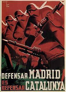 Vintage Olimpiadas 1936 juegos olímpicos de Barcelona España olimpiada Popular Español organizado por nuevo frente Popular. cancelado como Guerra Civil Española estalló 1 día antes de 250 gsm ART tarjeta brillante A3