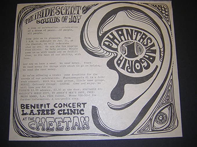 LA Free Clinic 1968 Sixties Psychedelic Cheetah Benefit