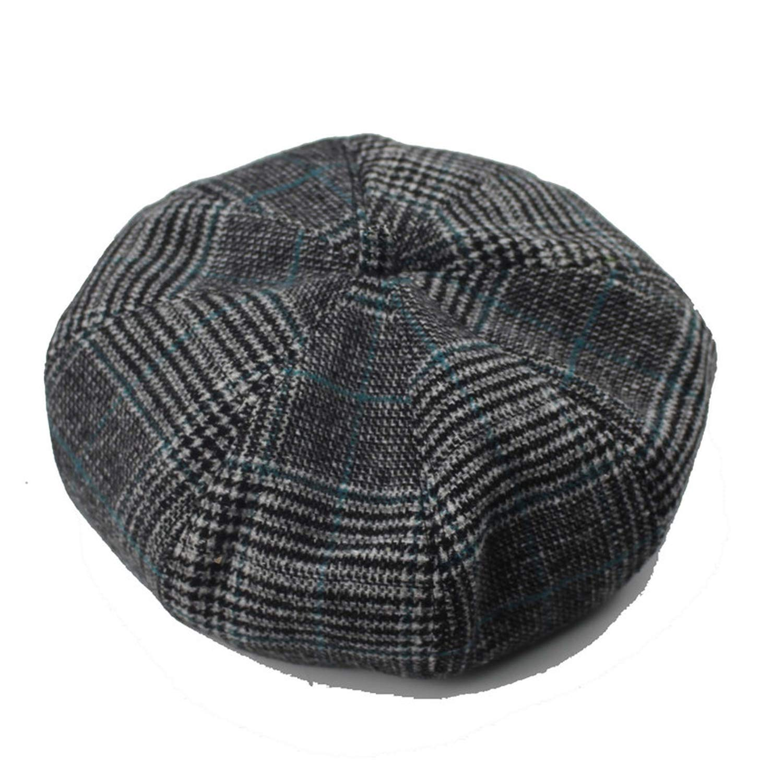 XINBONG Mens Cotton Blend Striped Cabbie Newsboy Cap Spring Women Men Newsboy Cap Corduroy Fashion Casual Driving Hat