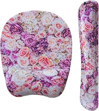 Romantic Pink Heart Tree Wrist Rest Support for Keyboard /& Mouse Pad Combo with Comfortable Memory Foam Padding and Ergonomic Design for PC Computer Laptop Mac Your Office Full of Colours