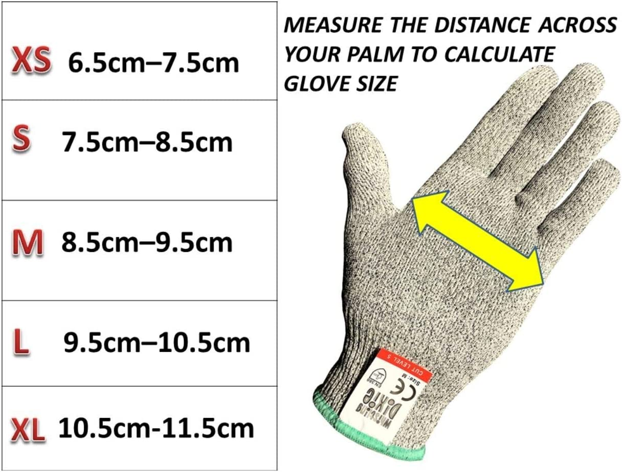 Level 5 Protection,EN 388 Certified.Food Grade Cut Proof Gloves Cut Gloves Size XL No Cut Glove,Cutting Gloves,Wood Whittling Gloves,Knife Protection Glove Whistling Dixie Cut Resistant Gloves