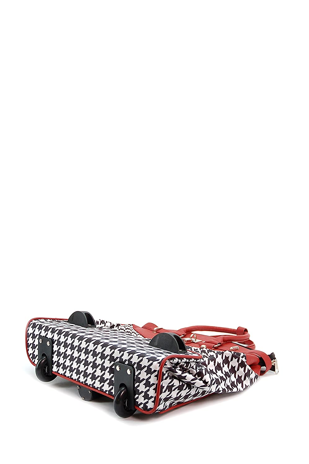 16X 9X16 Foldable ALFA Bags Mad Red HOUNDSTOOTH Rollie Tote