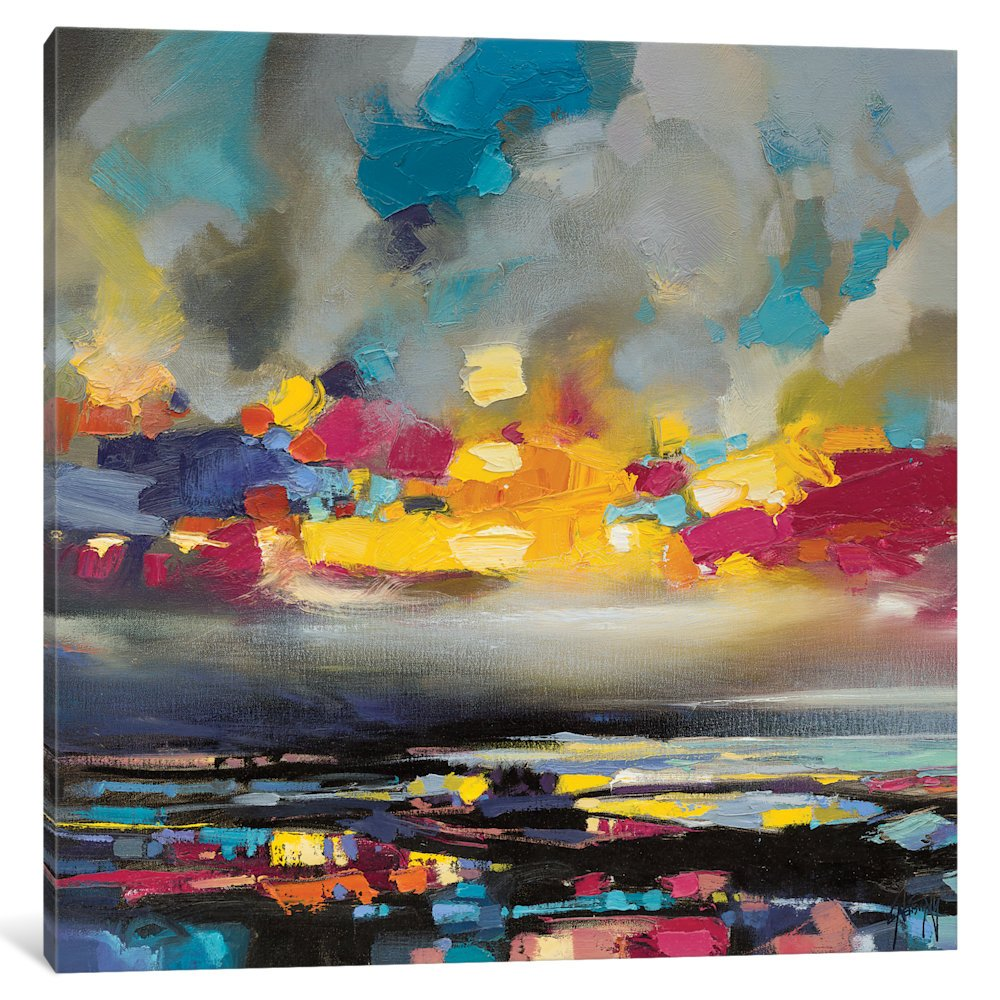 Icanvasart Particles Iii Gallery Wrapped Canvas Art Print By Scott Naismith 18 X 0 75 X 18 Amazon In Home Kitchen