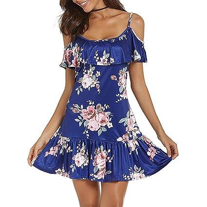 40d6eb11ce110 Amazon.com: Rambling New Womens Hawaiian Dresses Off The Shoulder ...