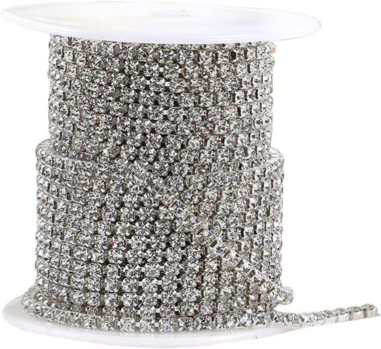 Loriver Diamant maille wrap cristal strass mousseux ruban maille Bling Party Decor