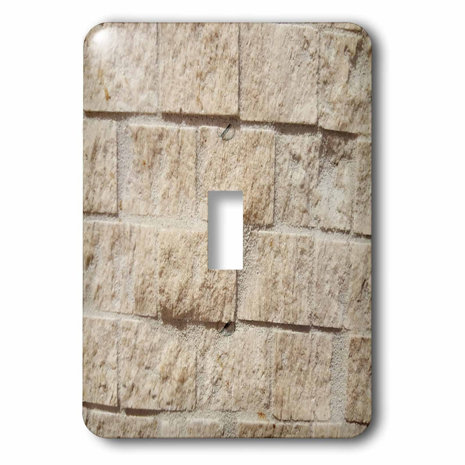 3dRose TDSwhite – Miscellaneous Photography - Tan Brick Wall Stone - Light Switch Covers - single toggle switch (lsp_285266_1)