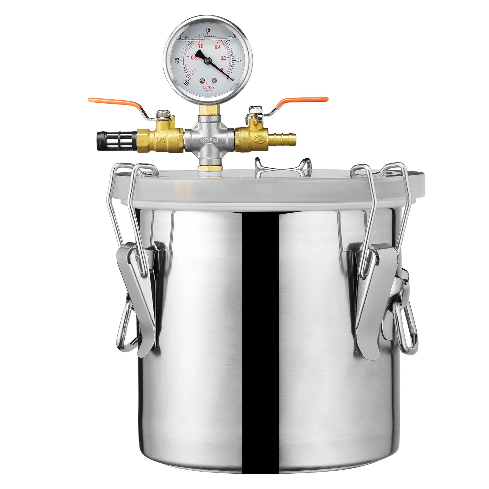 SUNCOO Stainless Steel Vacuum Chamber for Degassing Urethanes, Resins, Silicones and Epoxies,3 Gallon