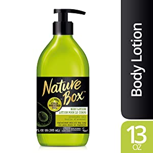Nature Box Body Lotion - for Replenished Skin, with 100% Cold Pressed Avocado Oil, 13 Ounce