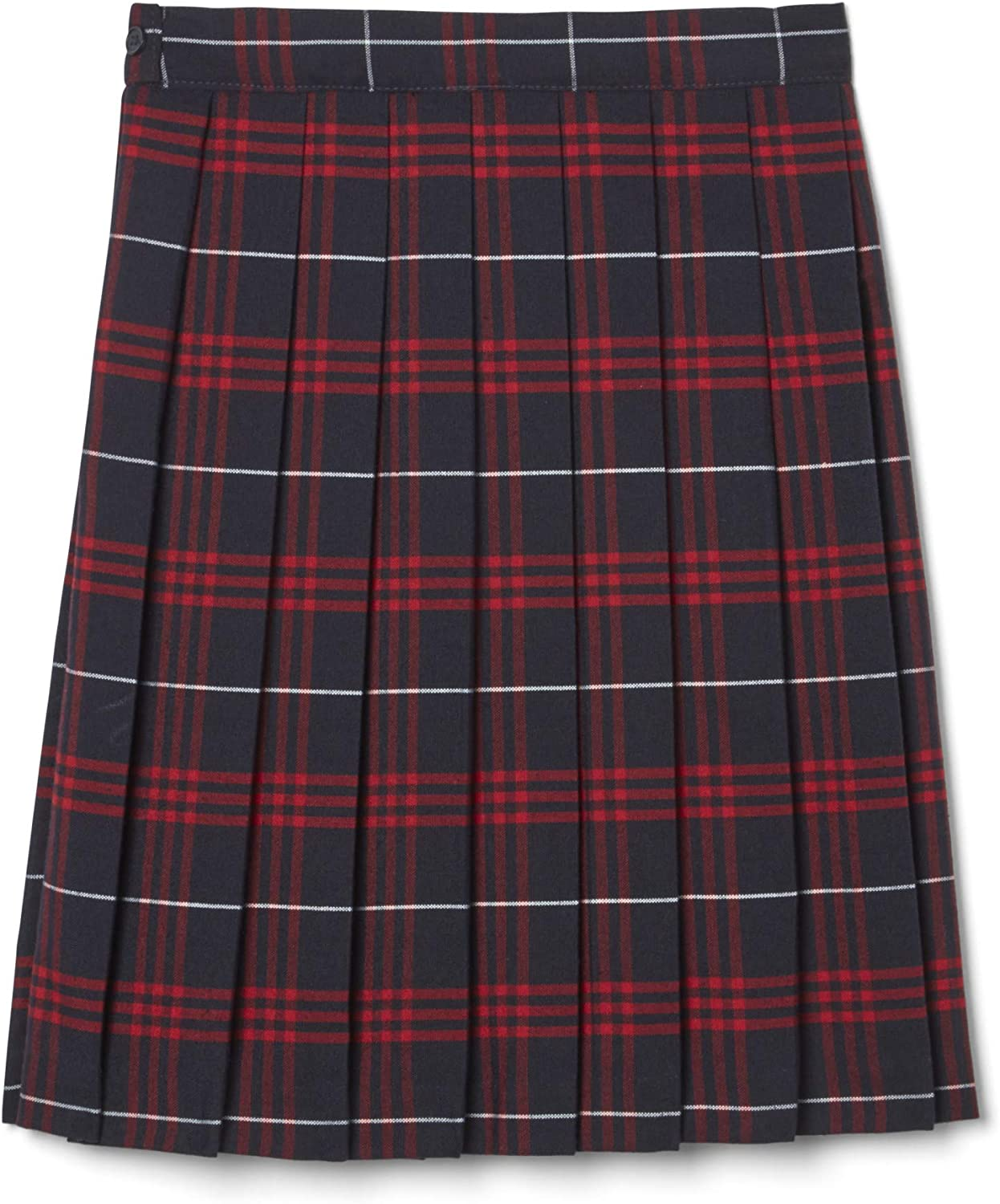 Navy//Red French Toast Big Girls Plaid Pleated Skirt 12