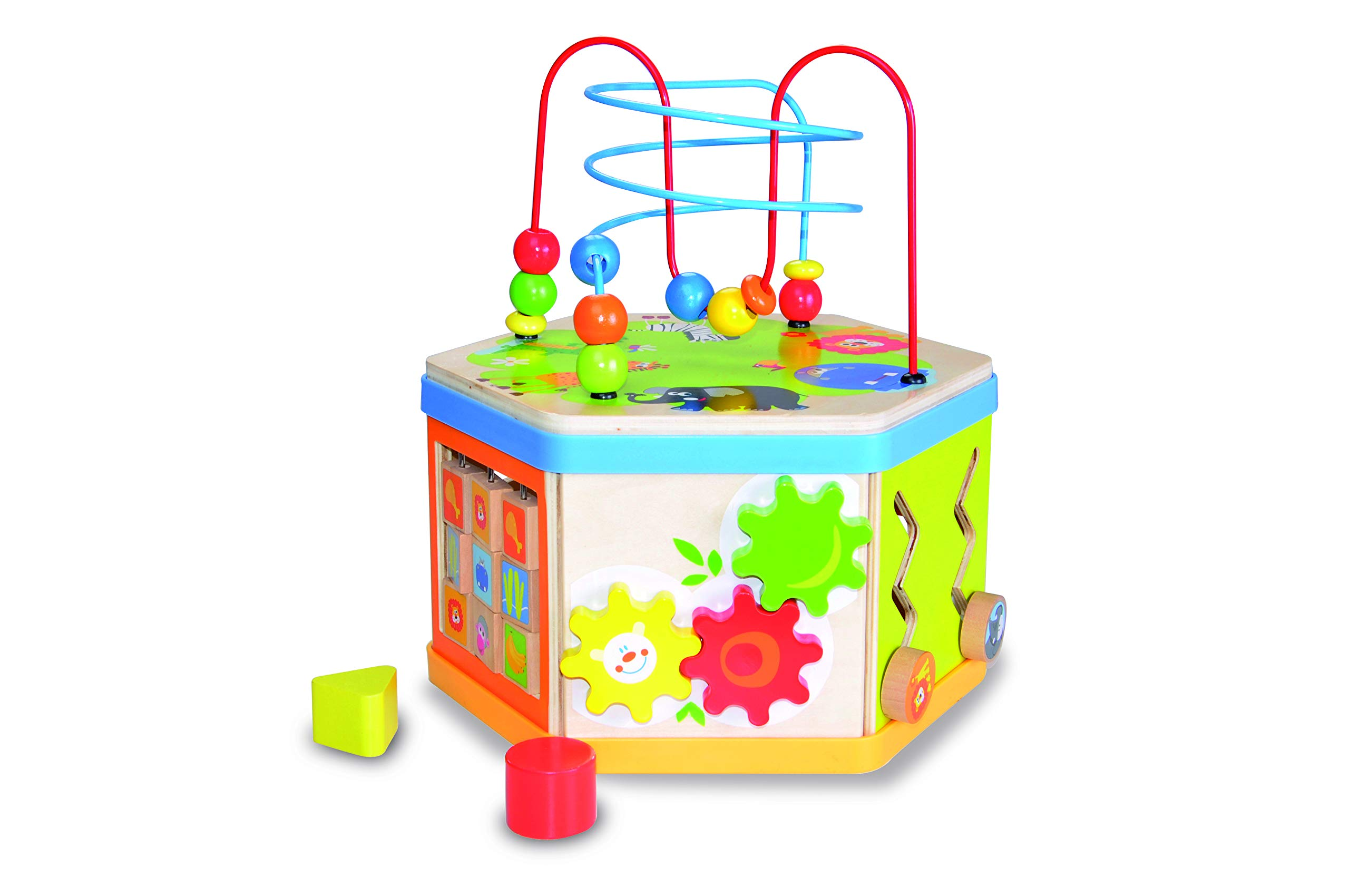 Andreu Toys TB15417 7-in-1 Activity Cube, Multi-Colour, 29 x 25.5 x 31 cm