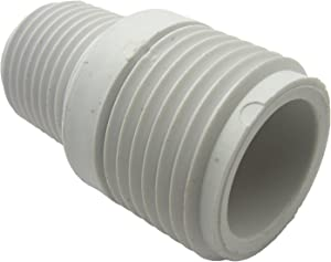LASCO 15-1631 PVC Hose Adapter with 3/4-Inch Male Hose Thread and 1/2-Inch Male Pipe Thread
