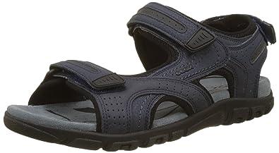 Uomo Sandalo Geox Geox U S.Strada B Dbk Nero C9999 Scontato