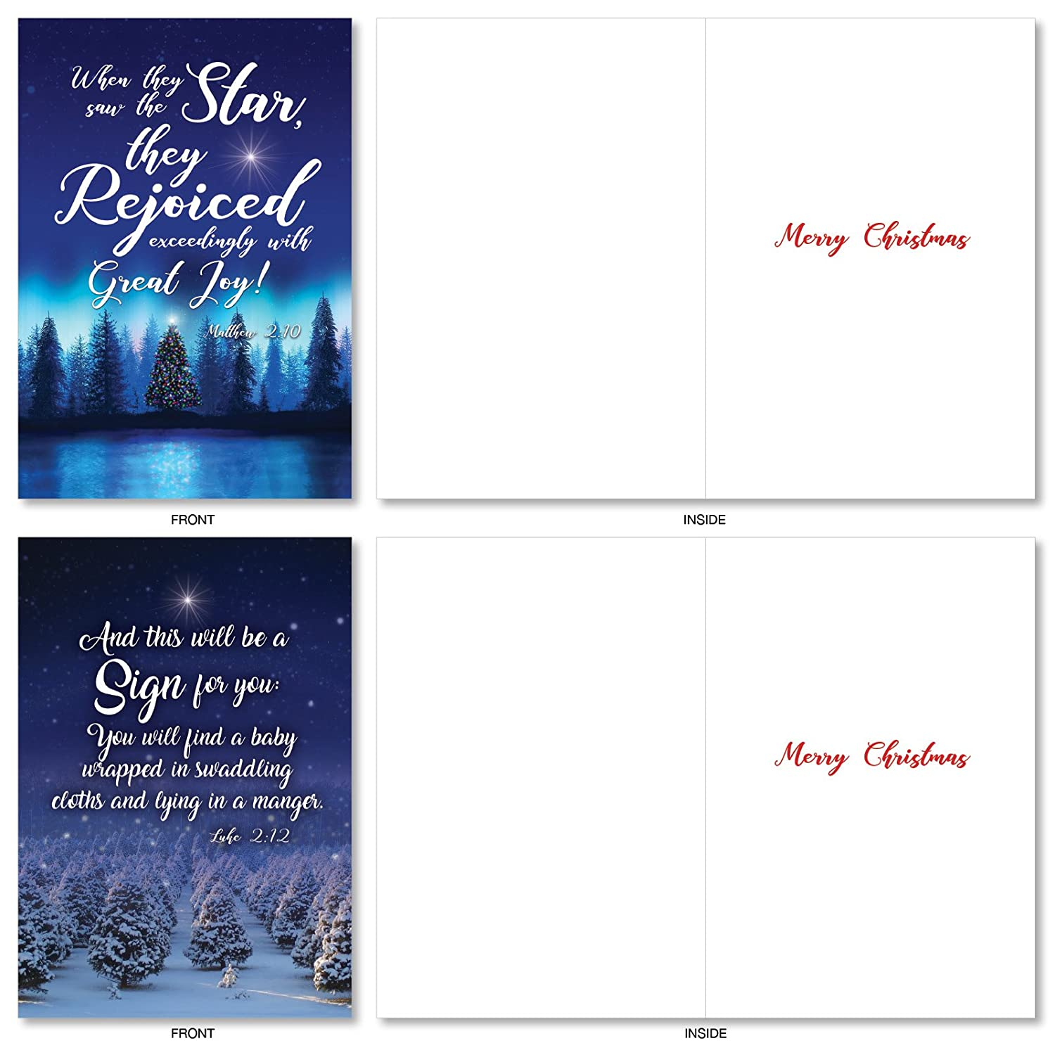 Amazon A5078XSG B1x10 Christmas Quotes Assorted Box of 10