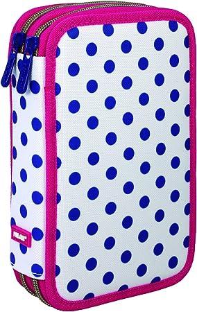 Milan Dots 3 081264DT3 Estuches, 20 cm, Azul/Blanco: Amazon.es: Equipaje