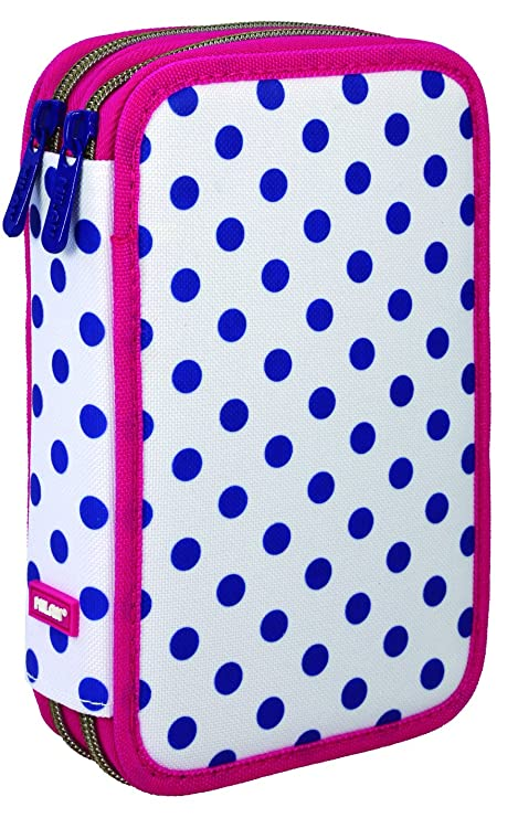 Milan Dots 3 081264DT3 Estuches, 20 cm, Azul/Blanco: Amazon ...