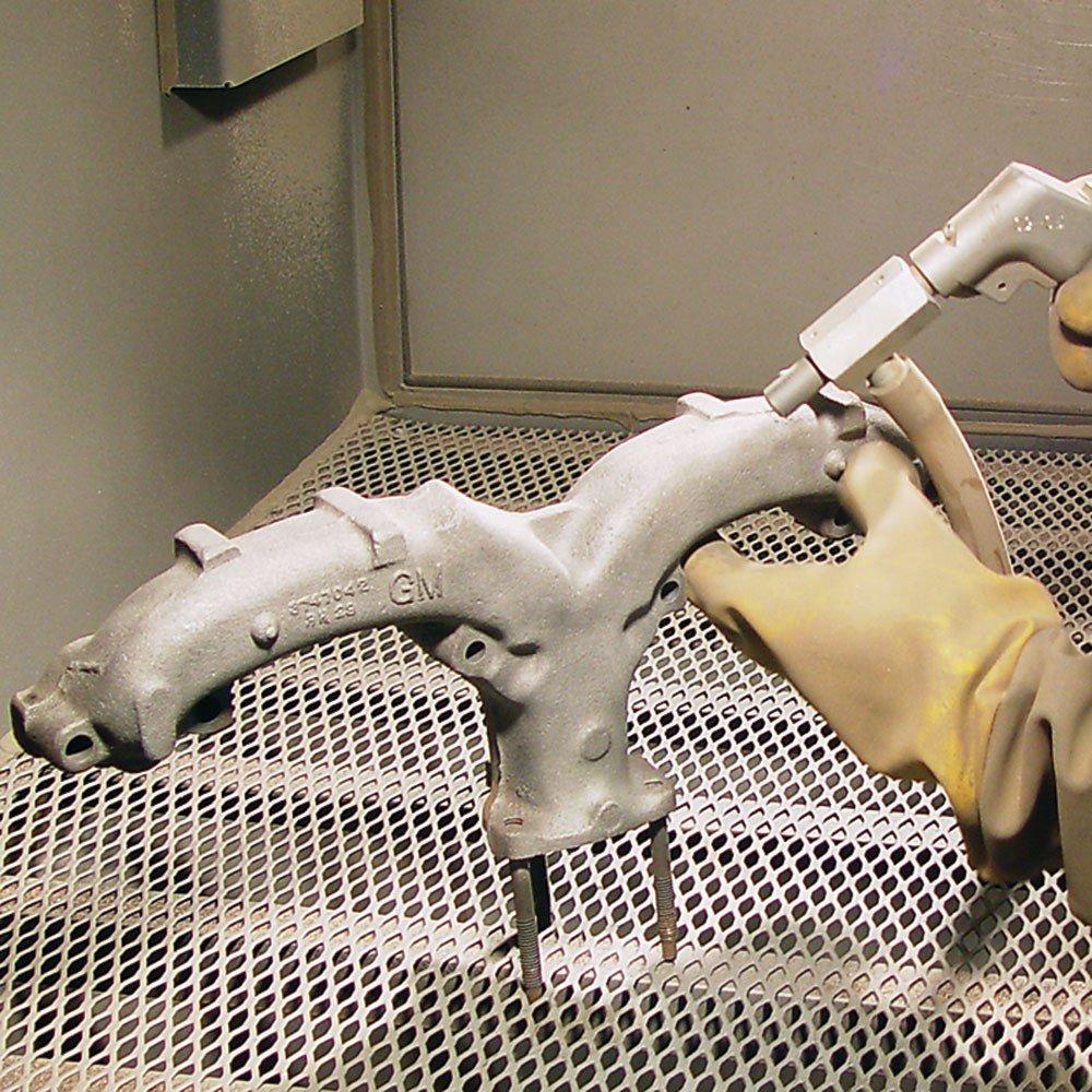 TP Tools USA 2834 Skat Blast Sandblast Sandblasting Cabinet with HEPA Vacuum Made in USA 34W x 28D x 28H Work Area