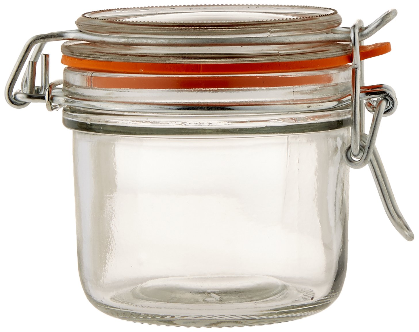 Anchor Hocking 5.4-Ounce Mini Glass Jar with Hermes Clamp Top Lid, Set of 12 98908