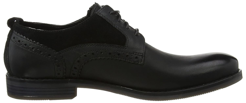 Modern Break Captoe Oxford, Zapatos Hombre, Negro (Black), 45 EU Rockport