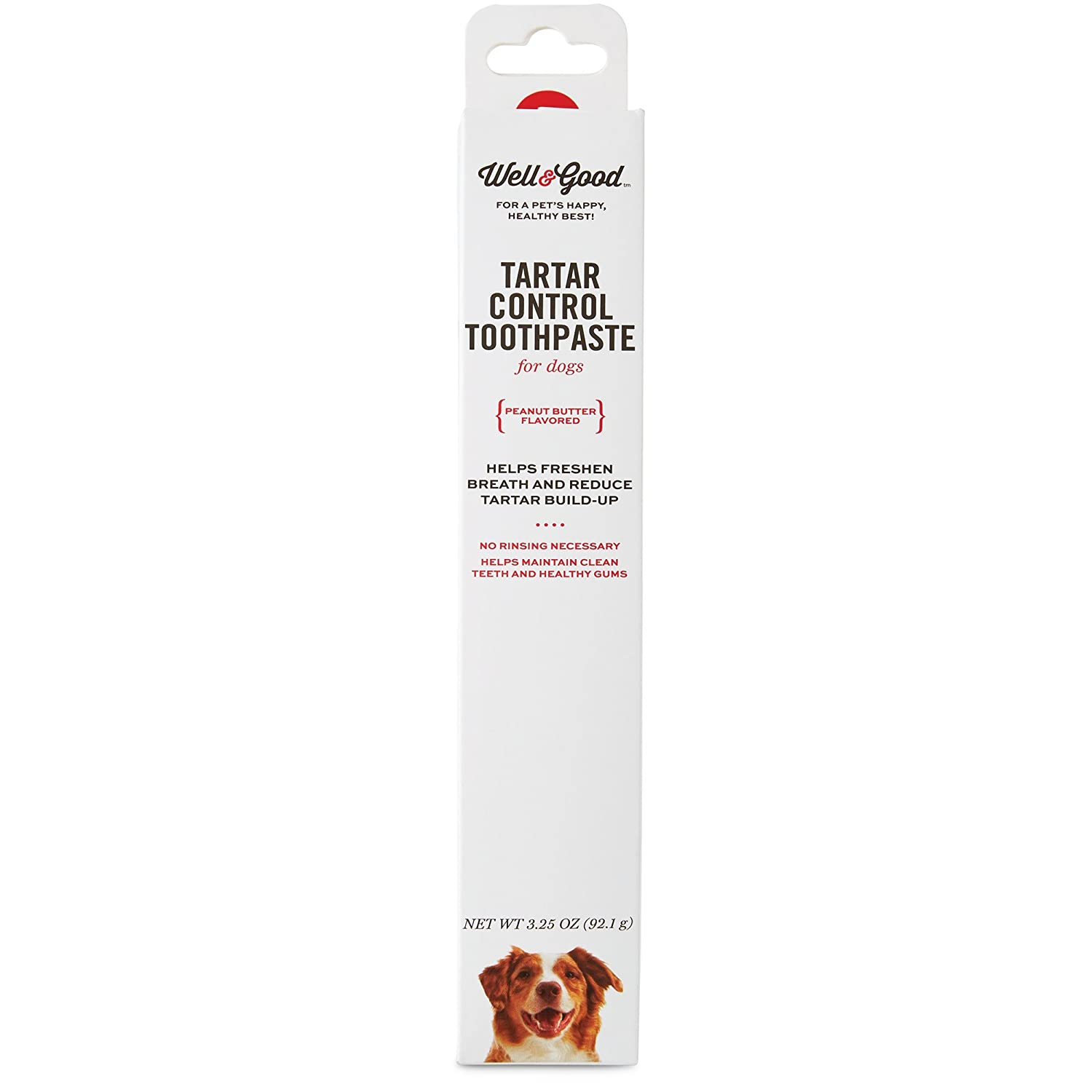 Well & Good Tartar Control Toothpaste for Dogs, Peanut Butter Flavor