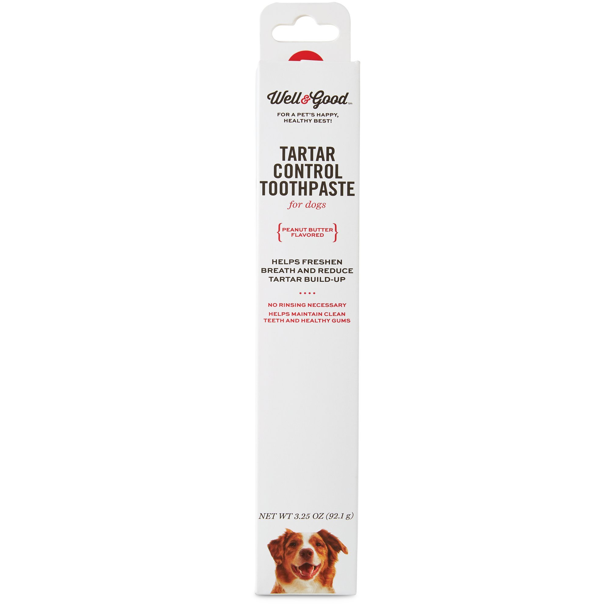 Well & Good Tartar Control Toothpaste for Dogs, Peanut Butter Flavor, 3.25 oz. by Well & Good