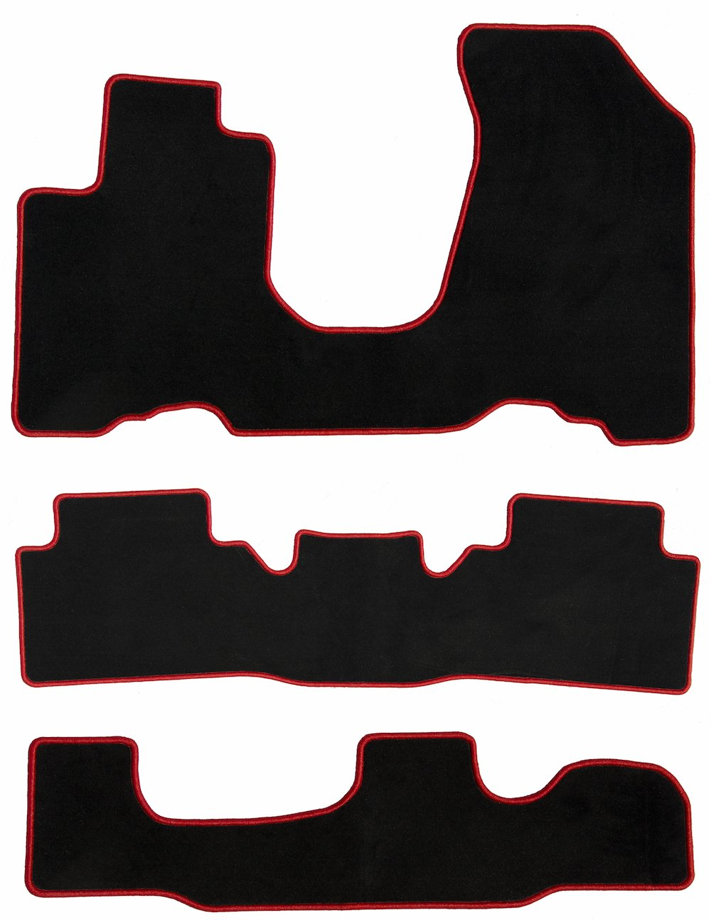 2nd /& 3rd Row 2008 2006 GGBAILEY D3686A-LSC-BLK/_BR Custom Fit Car Mats for 2005 Passenger 2009 Chevrolet Equinox Black with Red Edging Driver 3 Piece Floor 2007
