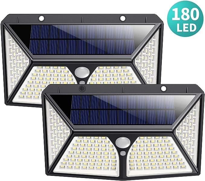 91 opinioni per 180 LED Luci Solari Esterno, HETP 【2019 Versione più Alta】Luce Solare di
