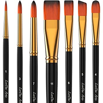 LorDac Arts Artist Brushes for Painting with Acrylic