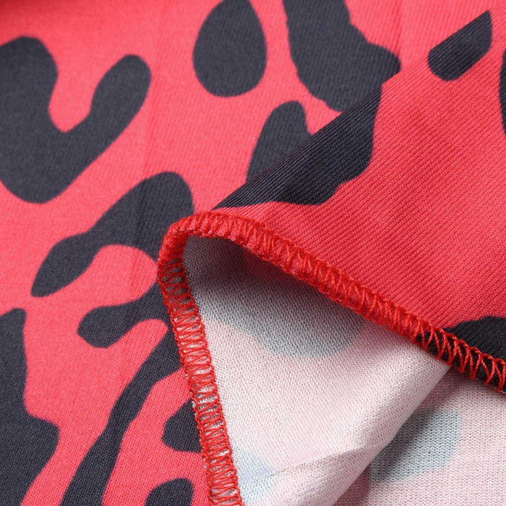 HCFKJ Faldas Mujer Cortas Falda Larga Bohemia Bohemio con Cord/óN Y Plisado con Estampado De Leopardo Largo para Mujer