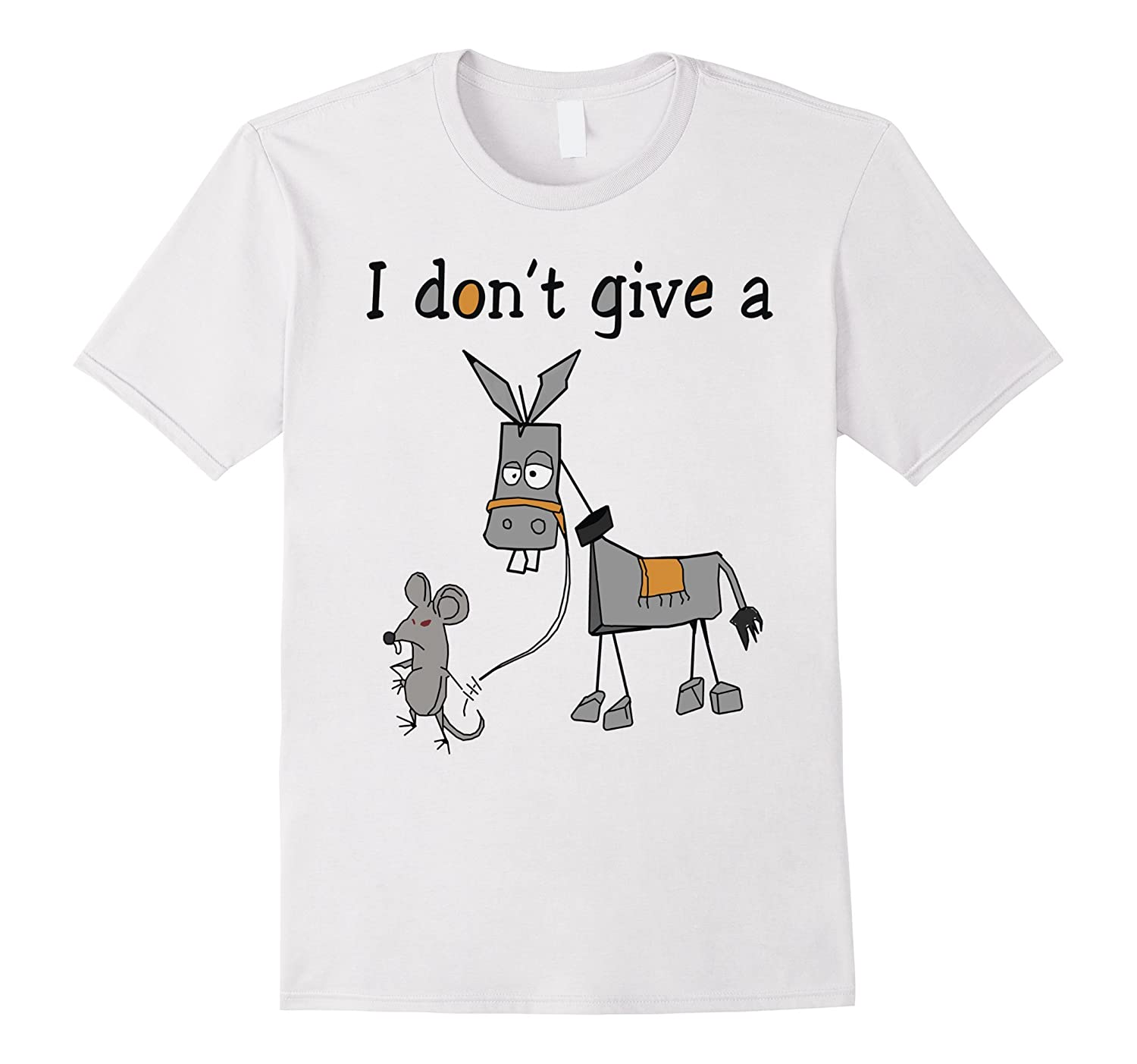 I Don't Give A Rats Ass Funny T-Shirt-FL