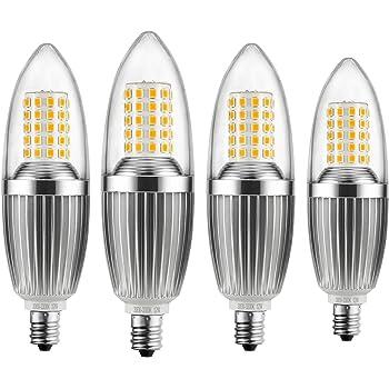 hzsane e12 led candle bulbs 12w 100w incandescent bulbs equivalent 3300k warm white candelabra. Black Bedroom Furniture Sets. Home Design Ideas