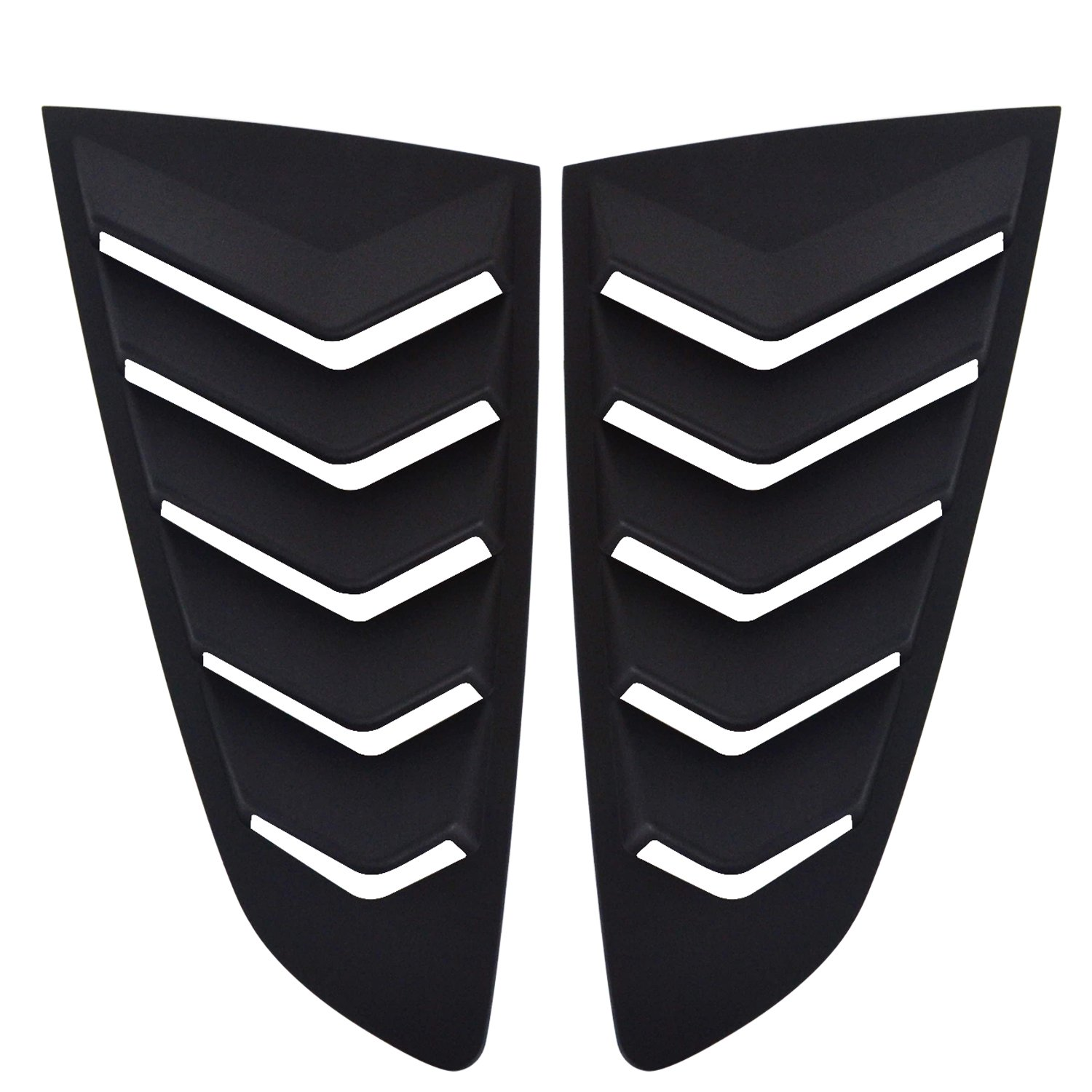 u-Box Ford Mustang Window Louver Vents Rear Side Quarter ¼ Side Black Window Scoops for Ford Mustang 2015-2017
