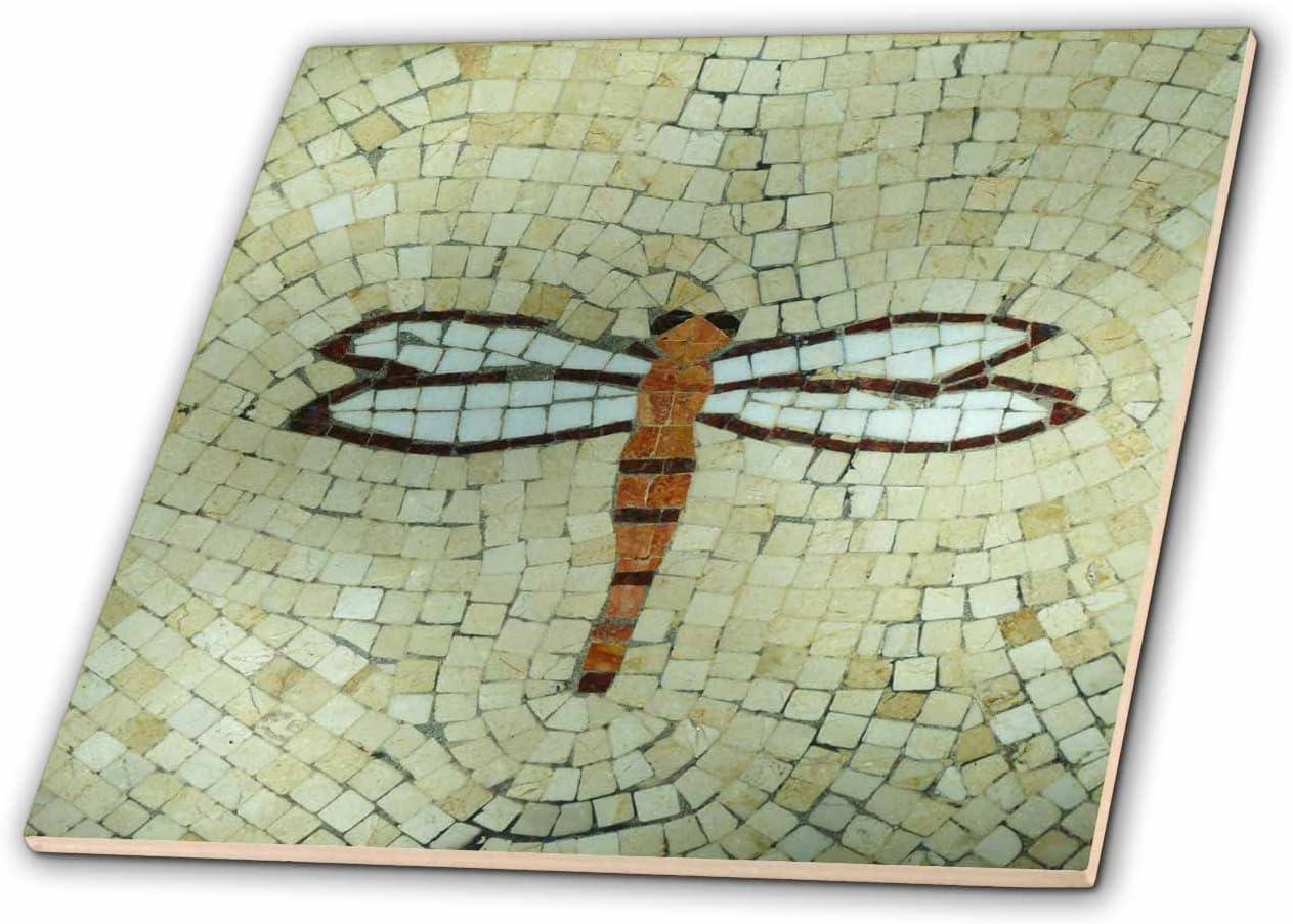 8 3dRose ct/_29712/_3 Dragonfly on Beige Ceramic Tile