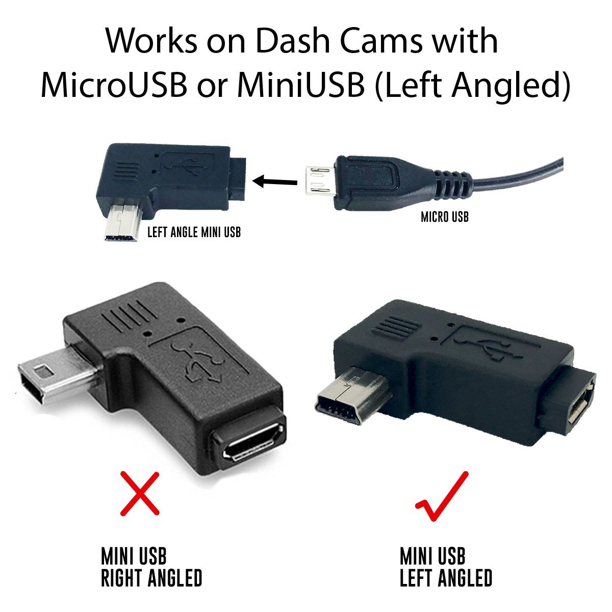 15ft Microusb Miniusb Dash Cam Hardwire Kit With Mini 1996 Ford Van Fuse Box Under Lp Ato Micro2 Micro To And Type C Port Adapters Battery Drain
