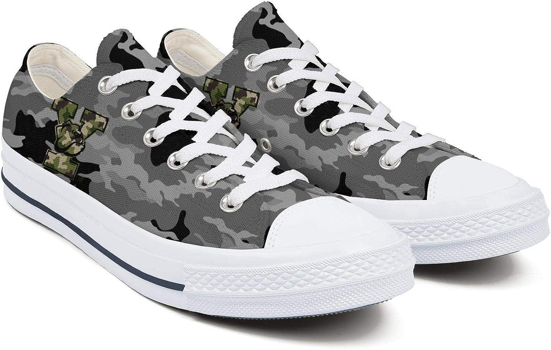 BOINN Womens Low Top Lace Up Skateboard Canvas Shoe Non-Slip Cool Sport Walking Sneakers