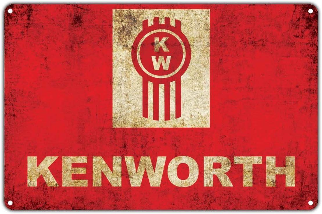 "Kenworth American Truck Manufacturing Company Vintage Retro Metal Wall Decor Art Shop Man Cave Bar Garage Aluminum 12""x18"" Sign"