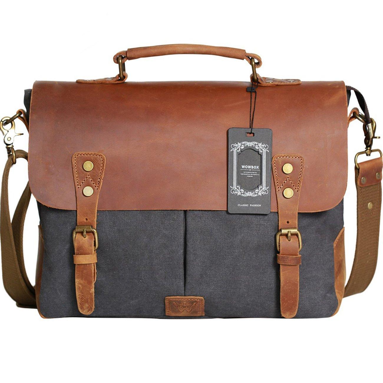 Amazon.com  Wowbox Messenger Satchel Bag for Men and Women 54988c812581e