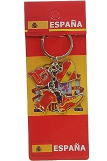 Amazon.com : Keychain -SPAIN FLAG- : Key Tags And Chains ...