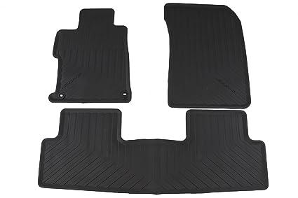 Honda Civic Floor Mats >> Honda Genuine Accessories 08p13 Tr0 110a Black All Season Floor Mat For Select Civic Models
