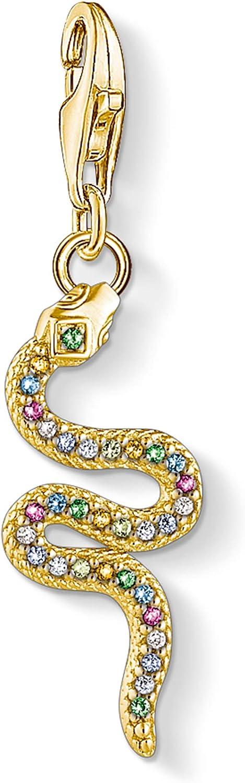Thomas Sabo Femme Pendentif Charm Serpent color/é Argent Sterling 925 1813-488-7