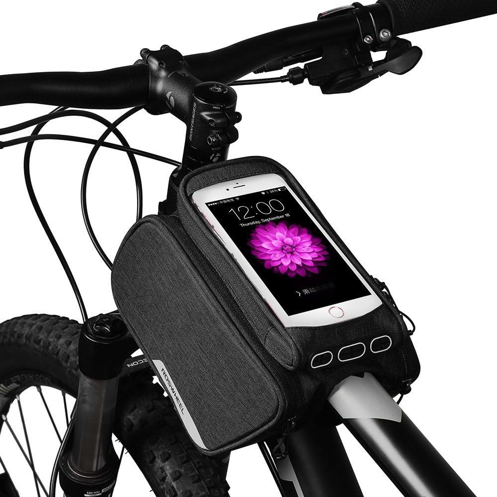 Roswheel 1,5L Bolsa para Manillar de Bicicleta, Bolsa Delantera de ...