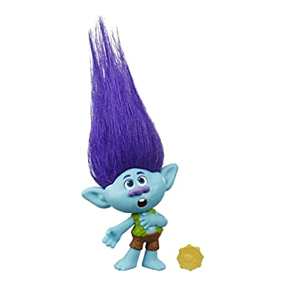 DREAMWORKS TROLLS World Tour Branch, Collectible Doll with Tambourine Accessory, Toy Figure Inspired by The Movie Trolls World Tour: Toys & Games