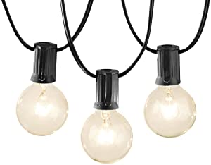 AmazonBasics Patio Lights, Black, 50'