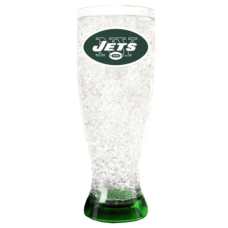 NFL New York Jets 16oz Crystal Freezer Pilsner Duck House Sports LFP