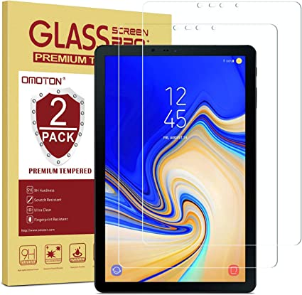 OMOTON Tempered Glass Screen... Samsung Galaxy Tab S4 Screen Protector 2 Pack