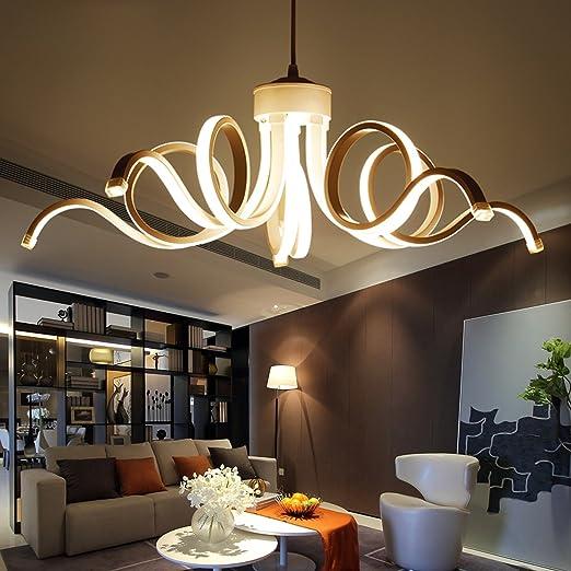 Waineg diseño D65cm Lámparas Modernas para Sala de Estar Comedor de Cuerpo de Aluminio acrílico Iluminación LED Accesorios de la lámpara de Techo: Amazon.es: Hogar
